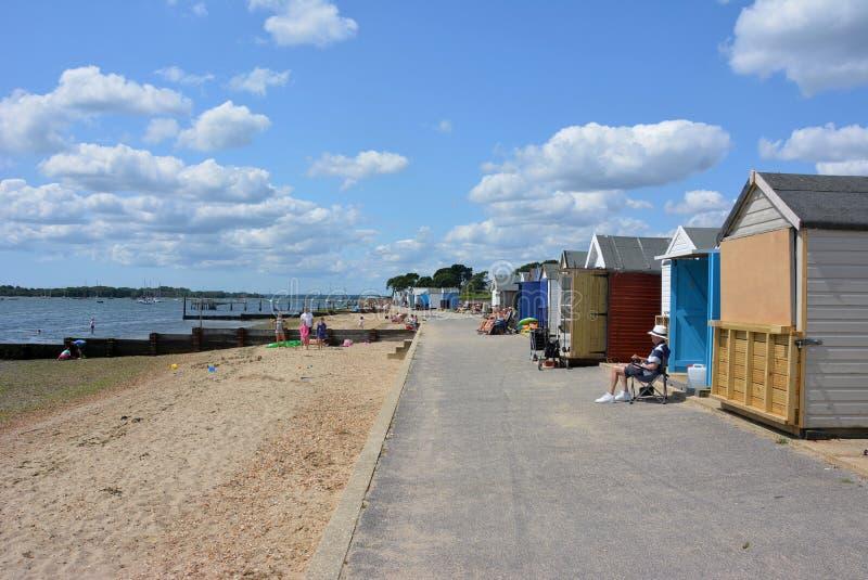 Hamworthy Park, Beach photo libre de droits