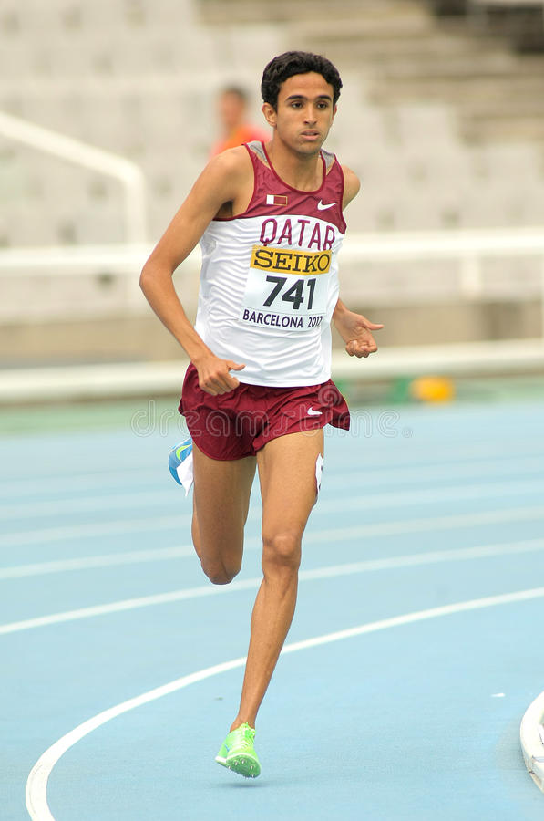 Hamza Driouch du Qatar photo libre de droits