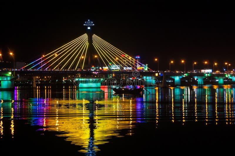 Han-Fluss-Brücke in Danang lizenzfreie stockfotografie