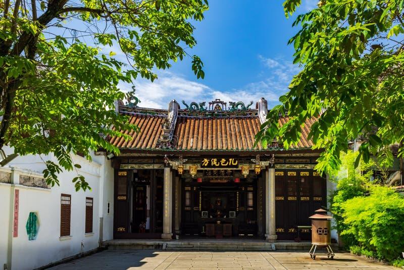 Han Jiang Ancestral Temple, chinesischer taoistischer Teochew-Tempel in Georgetown von Penang in Malaysia lizenzfreies stockbild