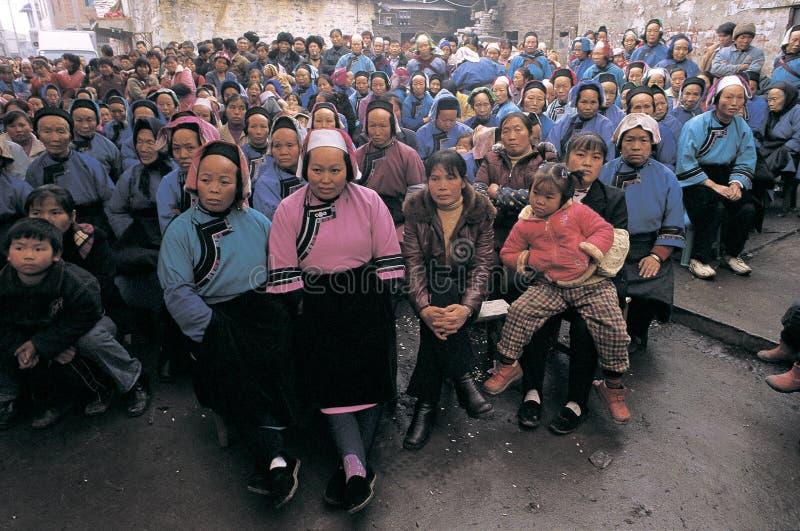 Han-Nationalität im Südwestporzellan lizenzfreie stockfotografie