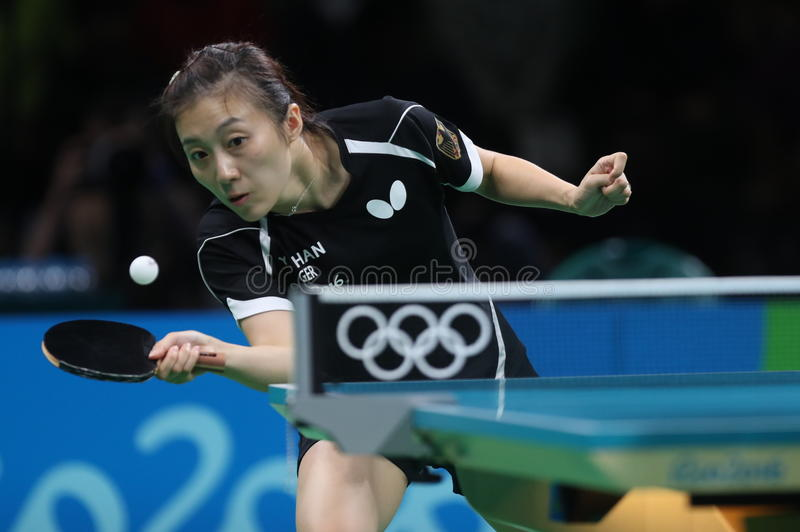 Han Yan bij de Olympische Spelen in Rio 2016 stock fotografie