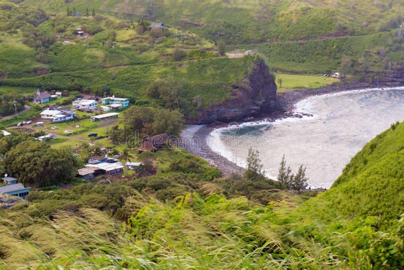 Hana Bay Pebble Beach, Maui, Hawaii lizenzfreies stockfoto