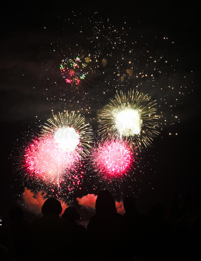 Hanabi in Zushi royalty free stock images