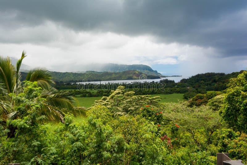 Hanalei海湾,夏威夷 免版税库存图片
