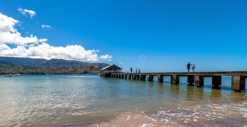 Hanalei海湾,考艾岛海岛-夏威夷 库存照片