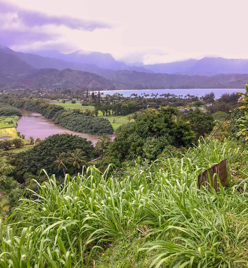 Hanalei,考艾岛,夏威夷,美国 免版税库存照片