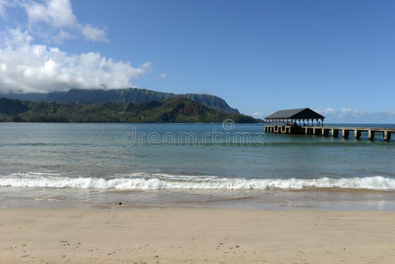 Hanalei Bay stock photography