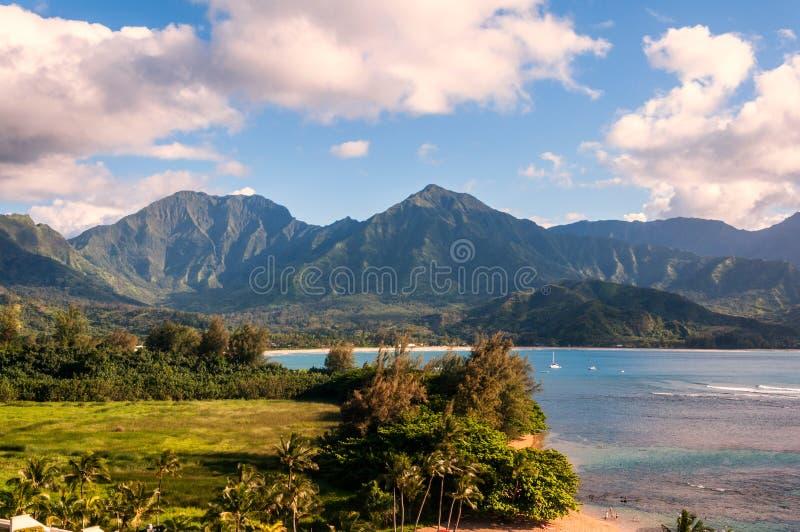 Hanaleibaai in Kauai, Hawaï stock foto