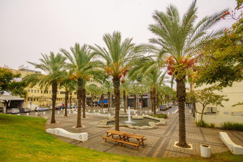 Hanamalstraat, Haifa stock afbeeldingen
