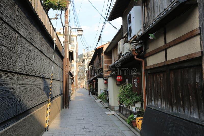 Hanamikoji Dori, Kyoto stock foto's