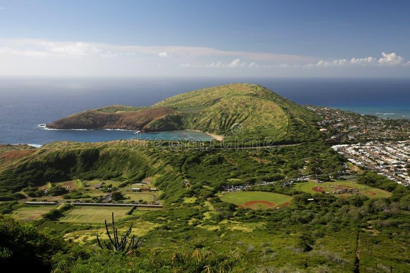 hanauma Гавайские островы залива стоковые изображения rf