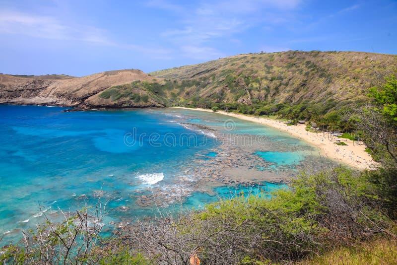 Hanaumabaai in Hawaï stock afbeelding