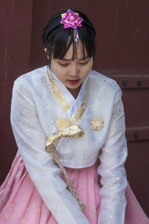 Hanbok Koreańska tradycyjna odzież zdjęcia stock