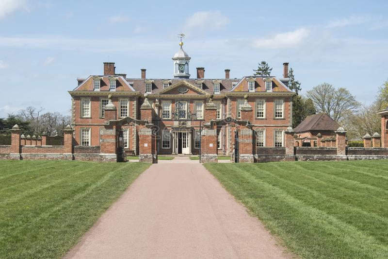 Hanbury Hall Worcestershire Großbritannien stockfotos