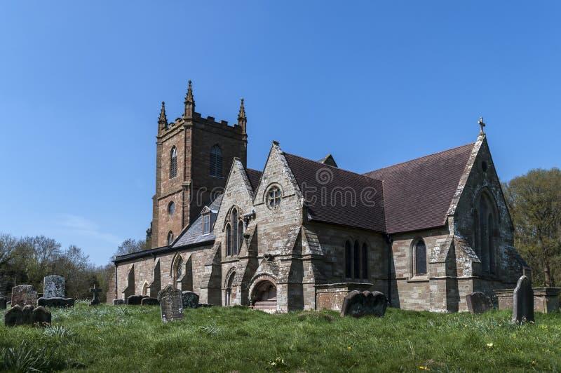 Hanbury kyrka royaltyfri foto