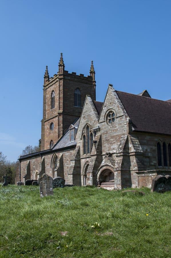 Hanbury kyrka arkivbild
