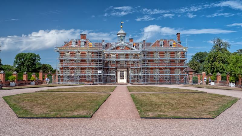 Hanburyzaal in Worcestershire onder restauratie royalty-vrije stock foto's