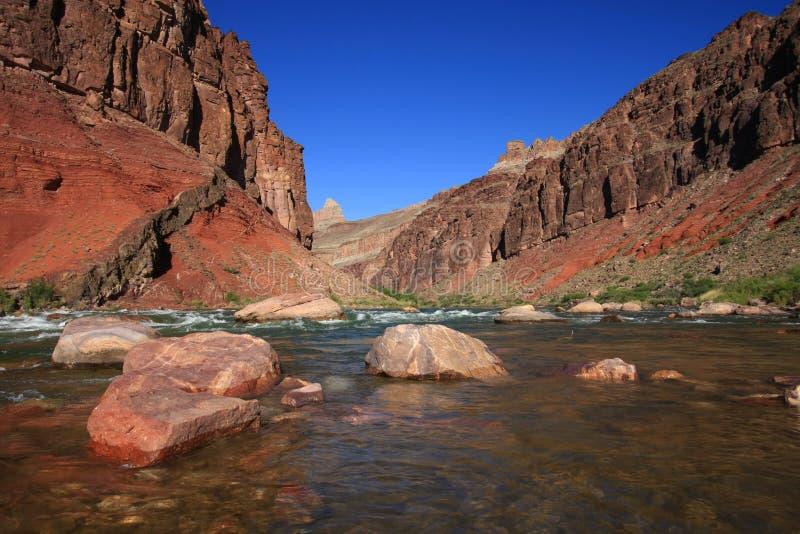 Hance gwałtowni w Uroczystego jaru parku narodowym, Arizona zdjęcia stock