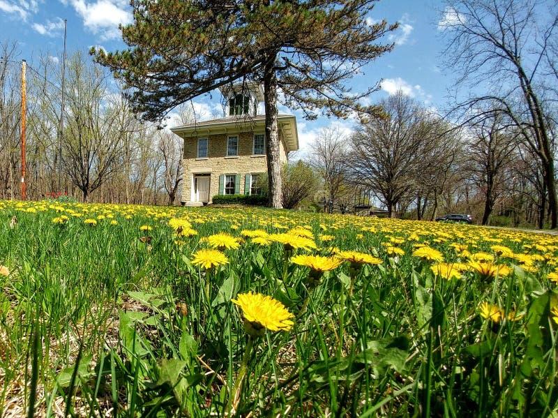 Hanchett Bartlett Homestead i Beloit, WI royaltyfri foto
