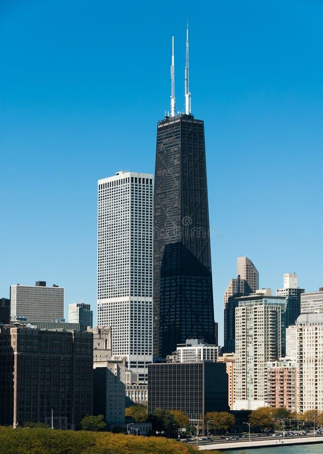 Hancock Chicago i budynku linia horyzontu zdjęcie royalty free