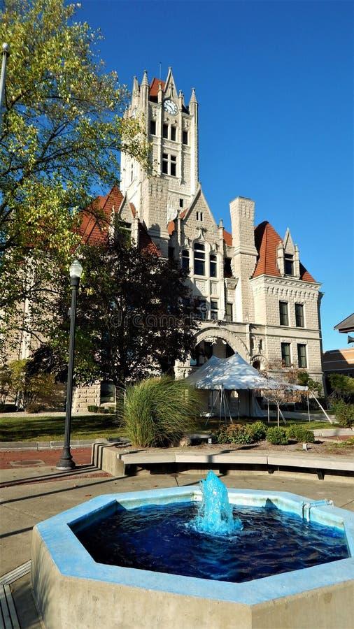 Hancock County Gericht-Greenfield Indiana lizenzfreie stockfotografie