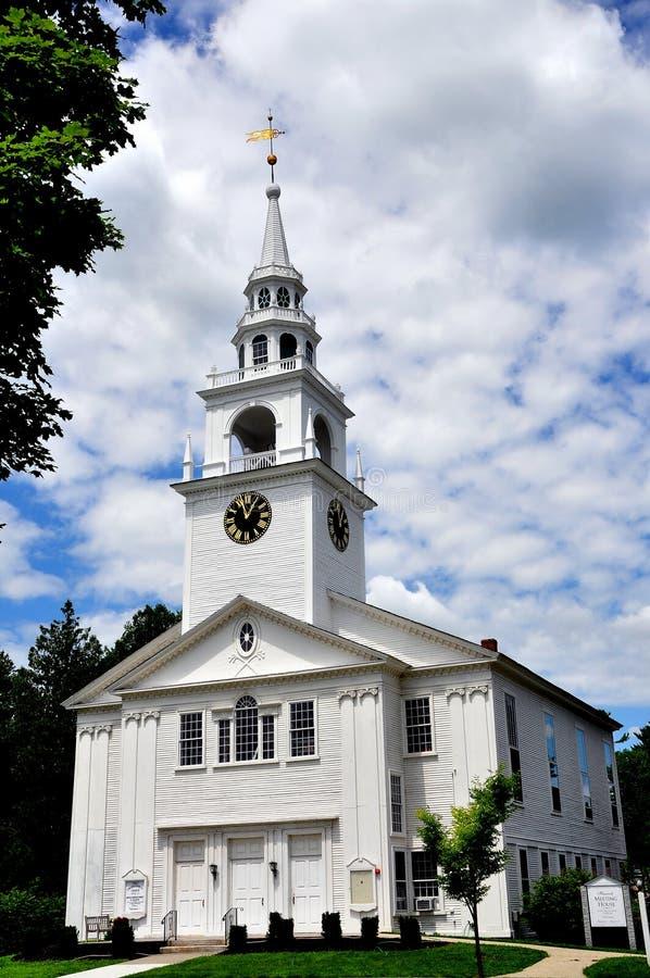 Hancock, NH: Primeira Igreja Congregacional do século XVIII fotos de stock royalty free