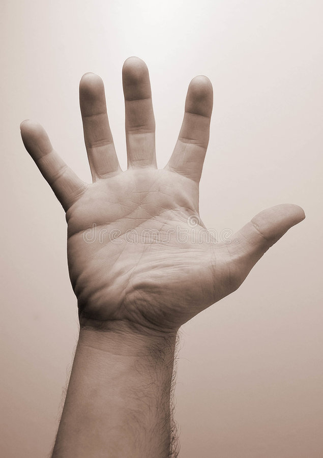 A hand stock image