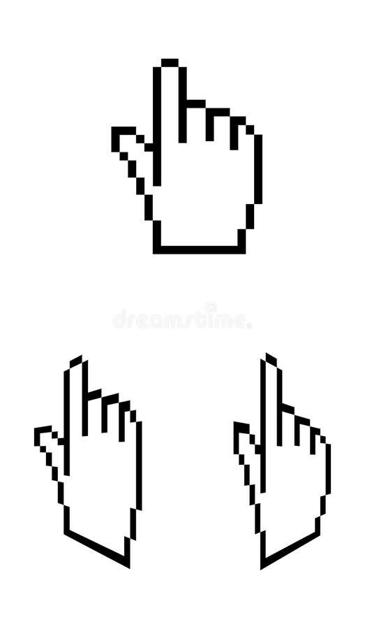 Download Hand stock illustration. Illustration of icon, hand, click - 11901530