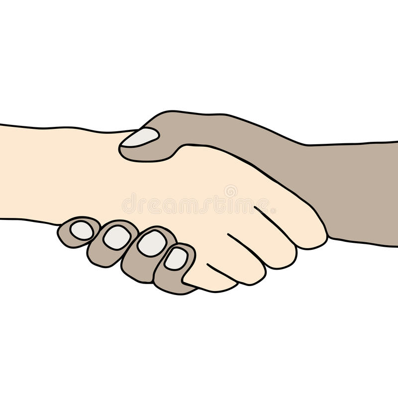 Hand. Illustration of handling two, Best regards royalty free illustration