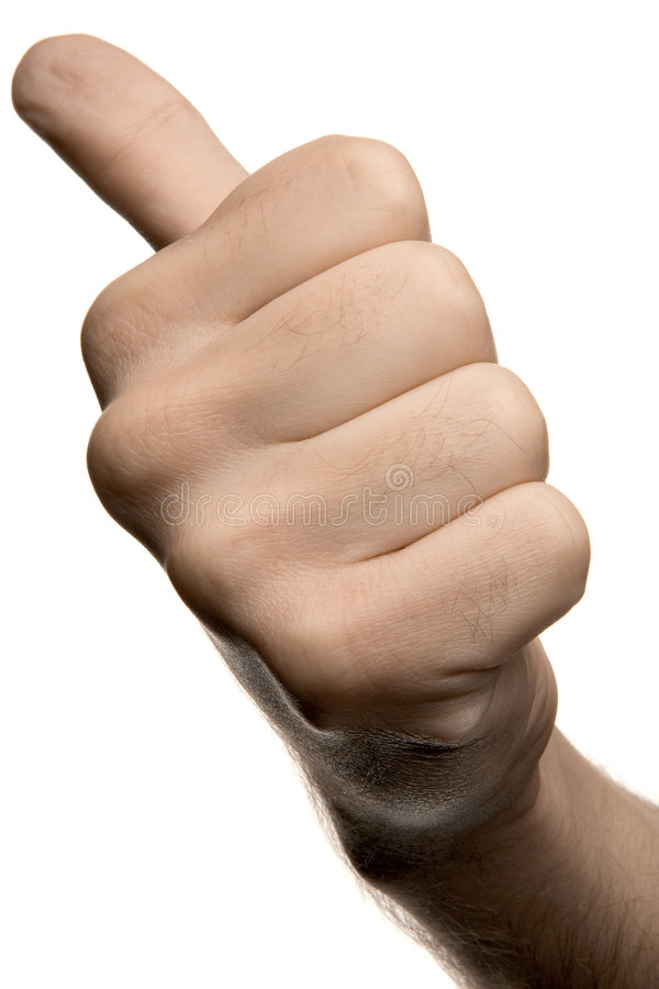 Hand. A hand showing thumbs up or hitchhiking royalty free stock photo