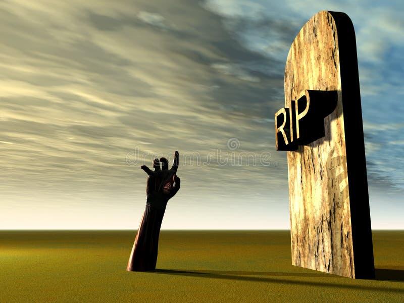 Hand 21 van het kerkhof vector illustratie