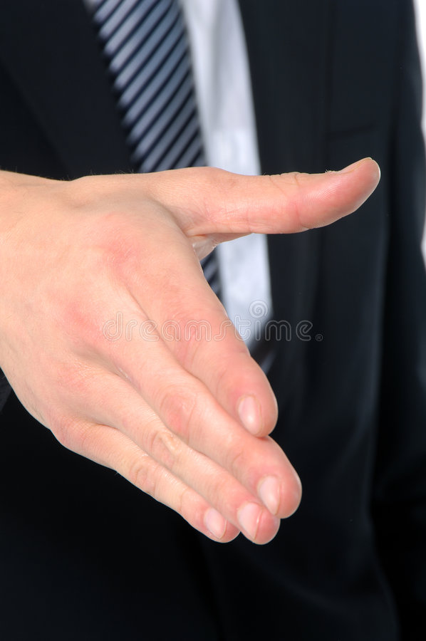 Hand. Male hand gesture isolated in white background royalty free stock photography