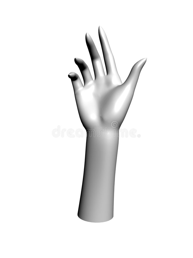 Download Hand stock illustration. Image of bent, nails, hole, claw - 8352870