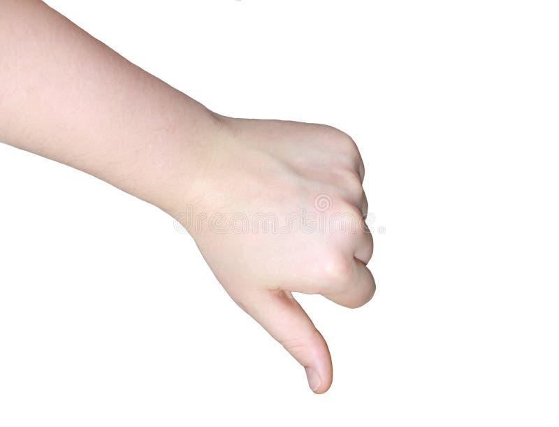 Hand-afkeer stock afbeelding