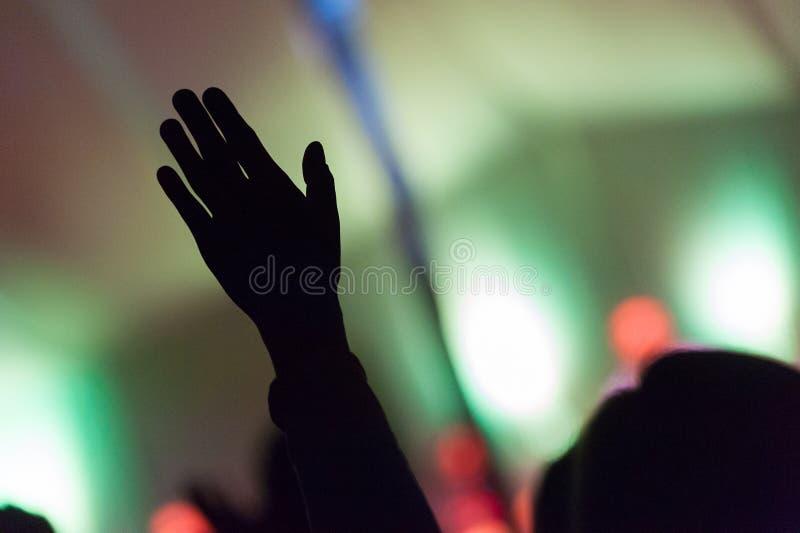 Hand in air stock photos