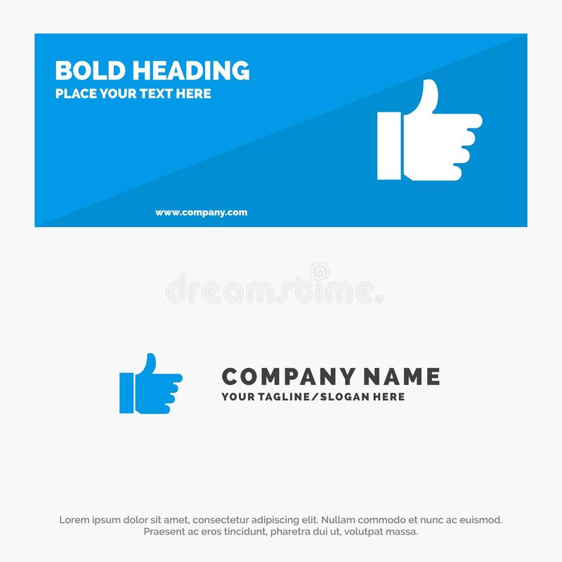Hand, als, Stem, de Websitebanner en Zaken Logo Template van het Liefde Stevige Pictogram royalty-vrije illustratie