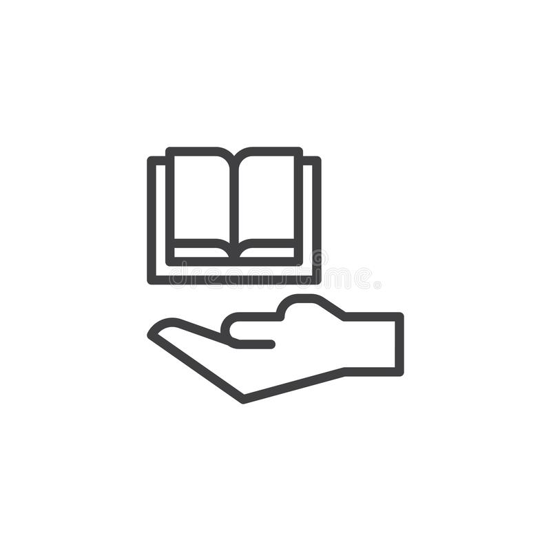 Free Hand And Book Outline Icon Royalty Free Stock Image - 124834956