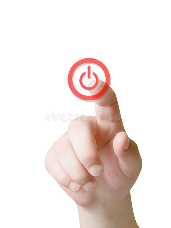 Free Hand And Power Button Stock Photography - 16572542
