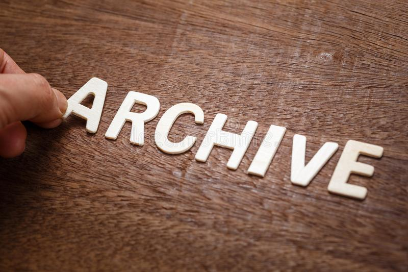 Archive Wood Word royalty free stock photos