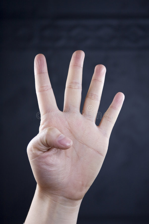Hand Assumed The Posture Royalty Free Stock Image