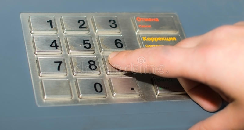 Download Hand and ATM keypad stock image. Image of human, background - 11055843