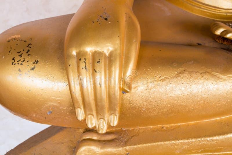 Hand av Ruin bilden av Buddha royaltyfri foto