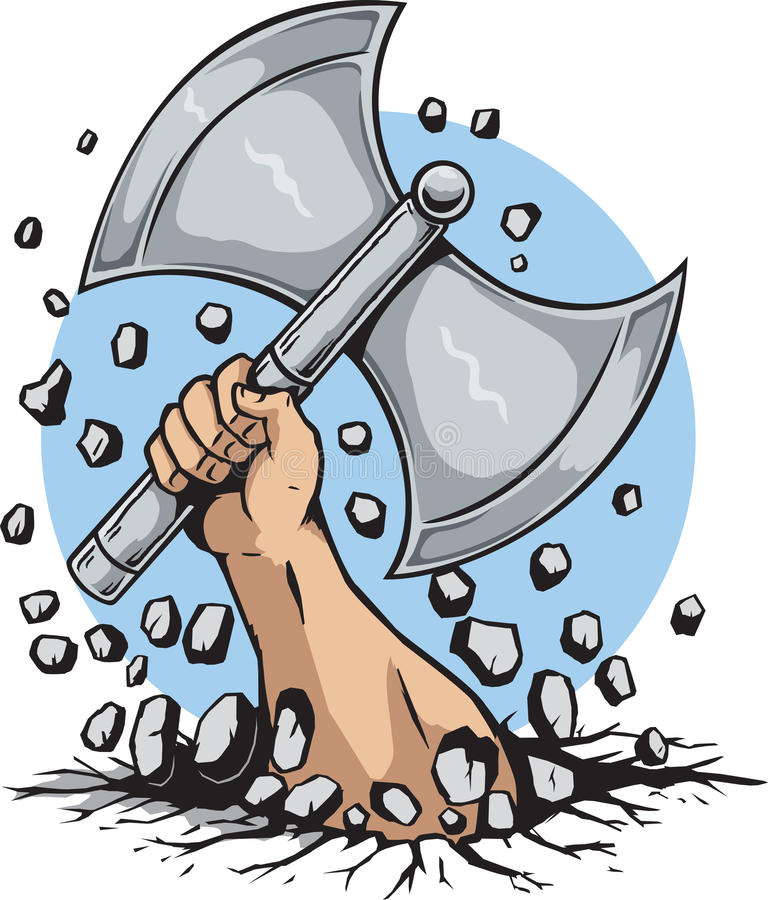 Hand and Axe vector illustration