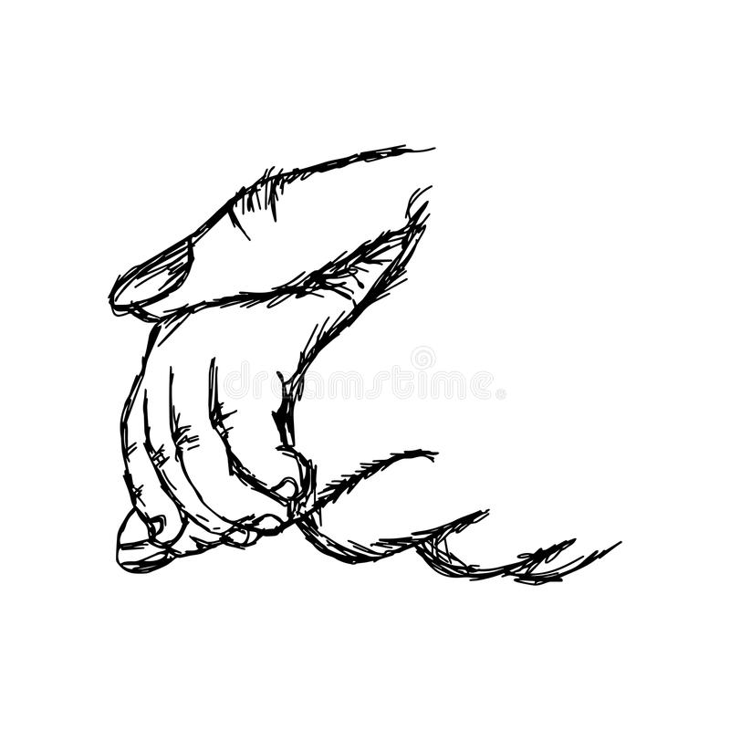 download hand of baby holding mother vector illustration sketch hand draw stock vector illustration of