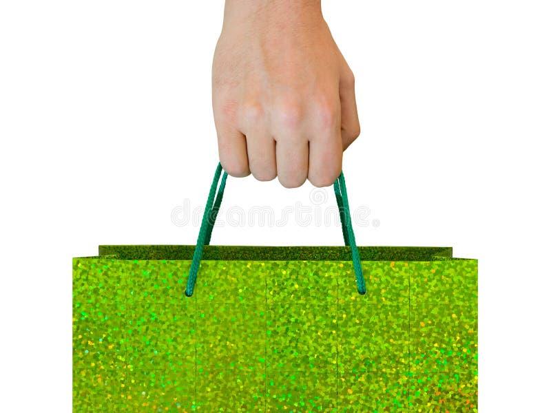Hand with bag stock image