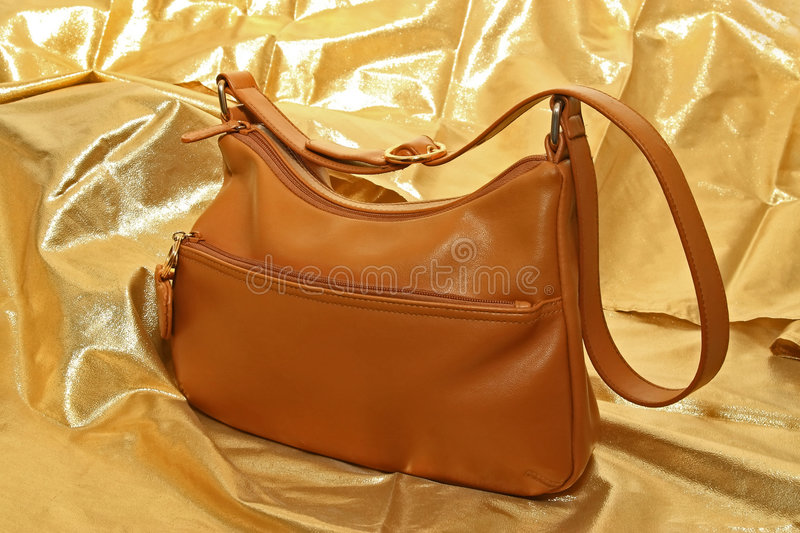 Download Hand Bag stock photo. Image of brown, zipper, fashion - 8110900