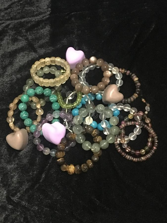 Hand beads jewelry stock images