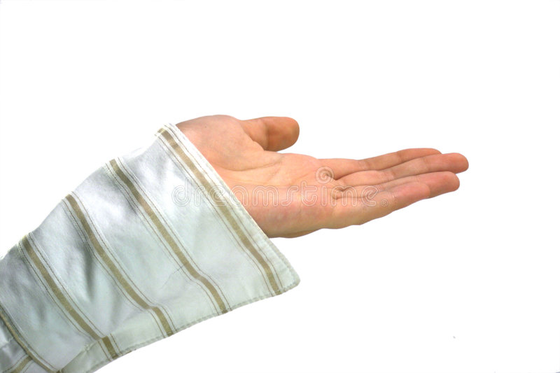 Hand begging royalty free stock photos