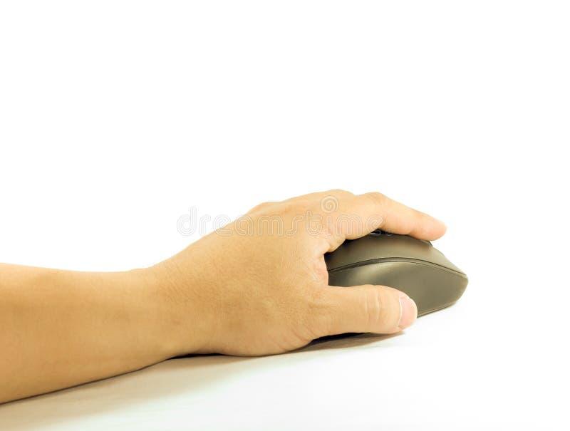 Hand bewegende muis royalty-vrije stock afbeelding